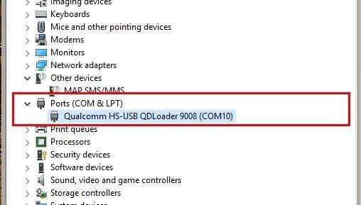 qualcomm hs-usb qdloader 9008 (com10) driver download