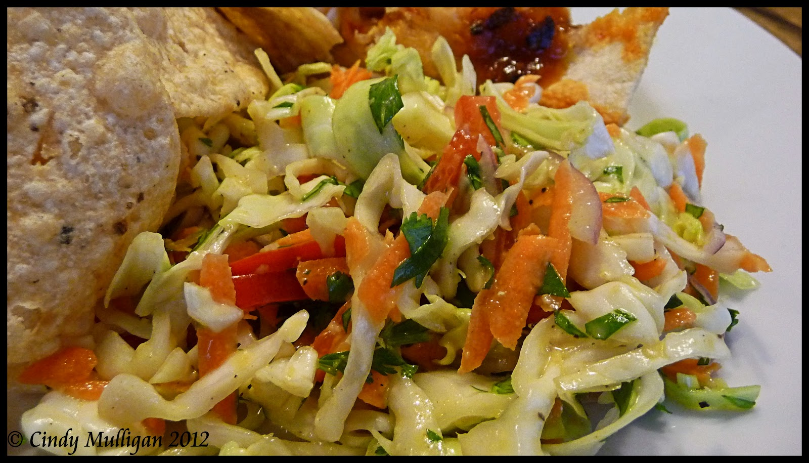 Spicy Coleslaw with Cumin Lime Dressing
