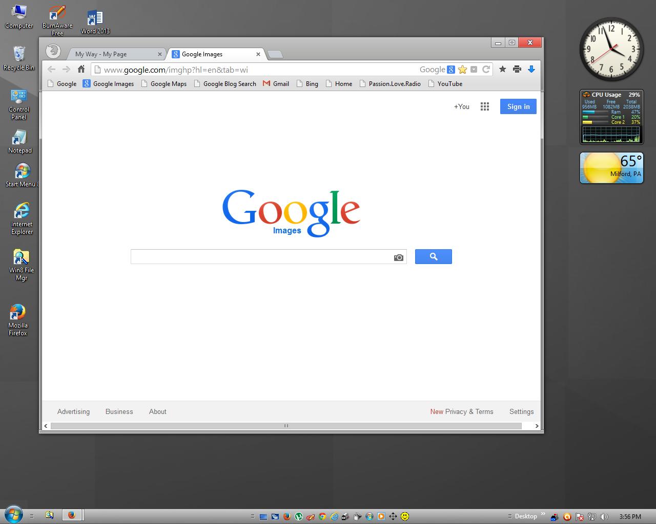 how to get m normal desktop on windows 10