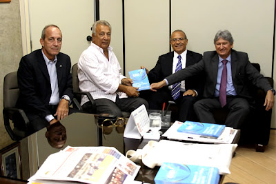 Jorge Alberto, Eliseu Padilha ,Marcelo Déda e Jackson Barreto