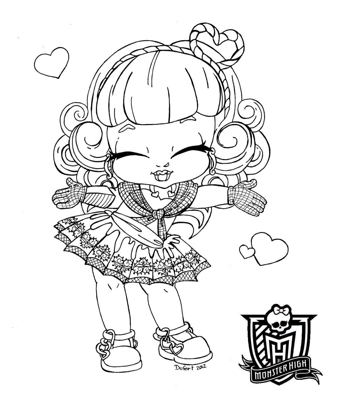 Dibujos Para Colorear Monster High Coloring Pages For After High Babies