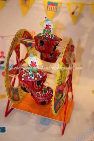 Ruota panoramica di cupcakes