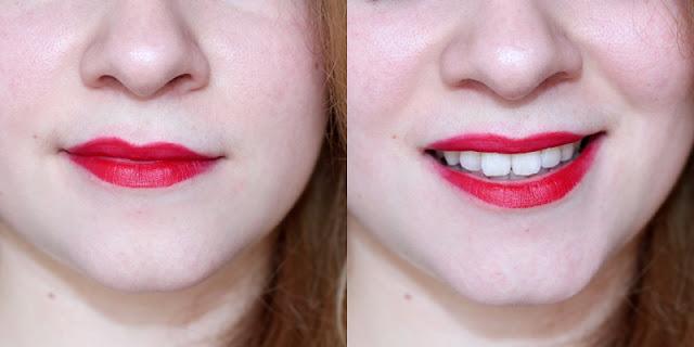 swatch lipstick mat 607 passion red kiko