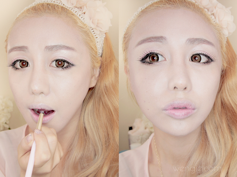 Doll makeup tutorial become a porcelain doll in 8 steps the step 7 rose petal lips ccuart Choice Image