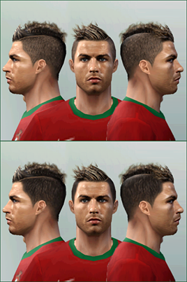Face And Hair For C.Ronaldo 2014