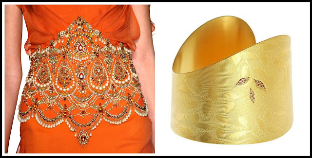 Marchessa, cuffs, summer jewellery, orange, colours, India, diamonds