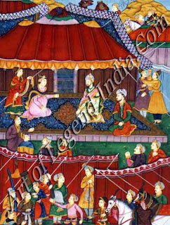 Babur meeting Khanzada Begam