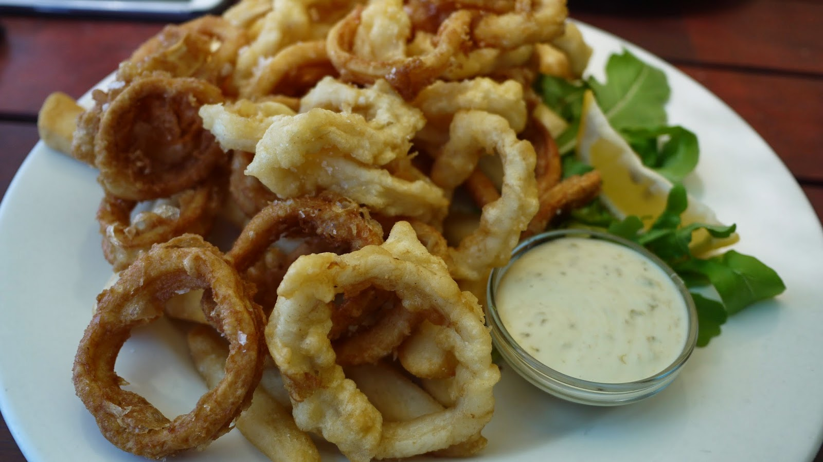 Calamari at The Kiosk on Floreat Beach