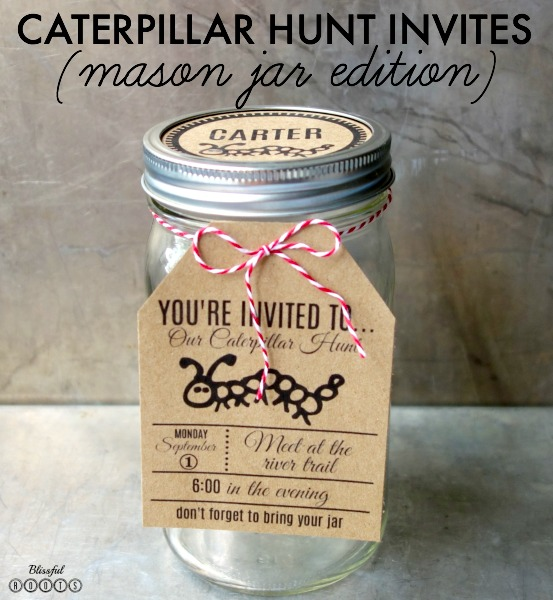 Printable Caterpillar Hunting Party Invites