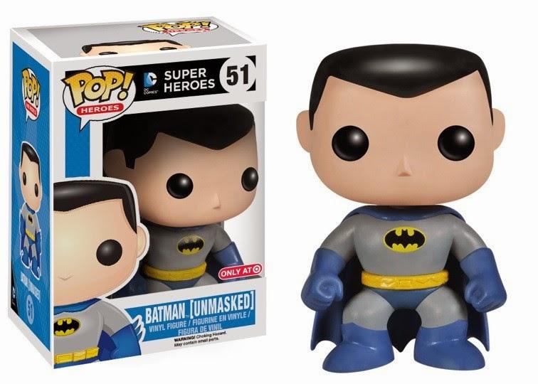 """Target Exclusive """"Unmasked"""" Batman Pop! Heroes Vinyl Figure by Funko"""