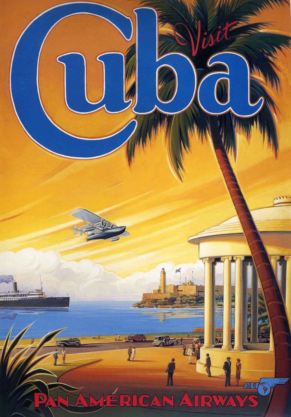 transpress nz: Pan Am poster - Visit Cuba
