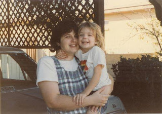 The author of the blog post at around age 5 with her mother.
