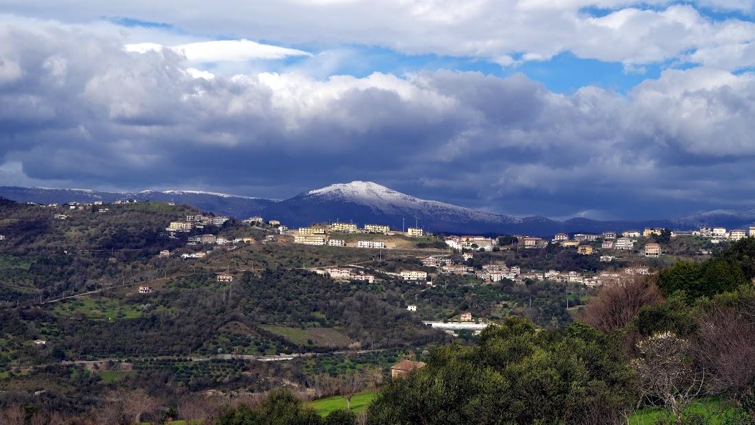 Blick von Torchiara im Cilento (Kampanien)