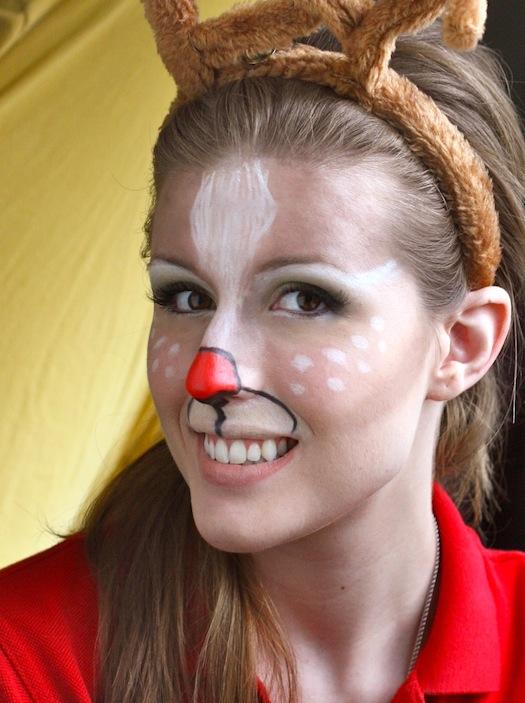 Simple Reindeer Makeup Images