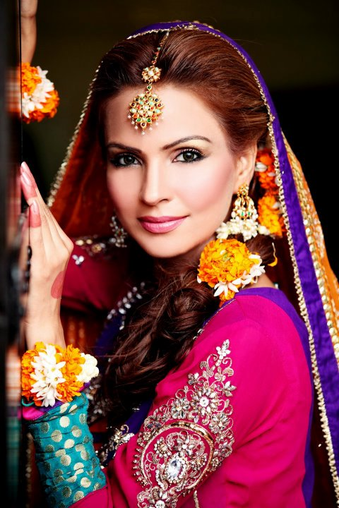 Mehndi Makeup : Mariam bridal salon mehndi makeup