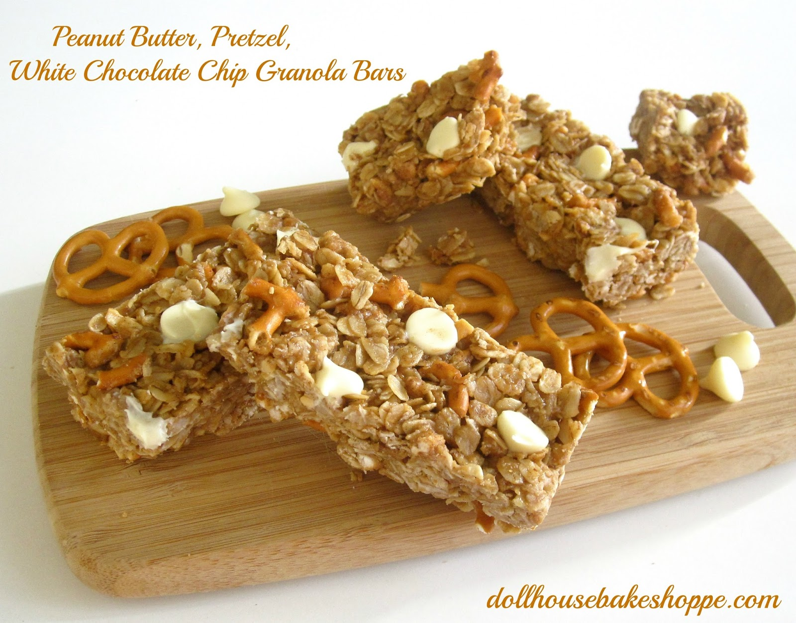 No-Bake Peanut Butter Pretzel White Chocolate Granola Bars (no-bake ...