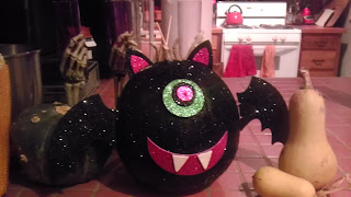 Sparkly Halloween pumpkin