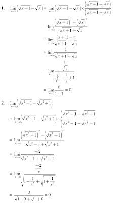 penyelesaian limit fungsi adalah mengalikan dengan faktor sekawan