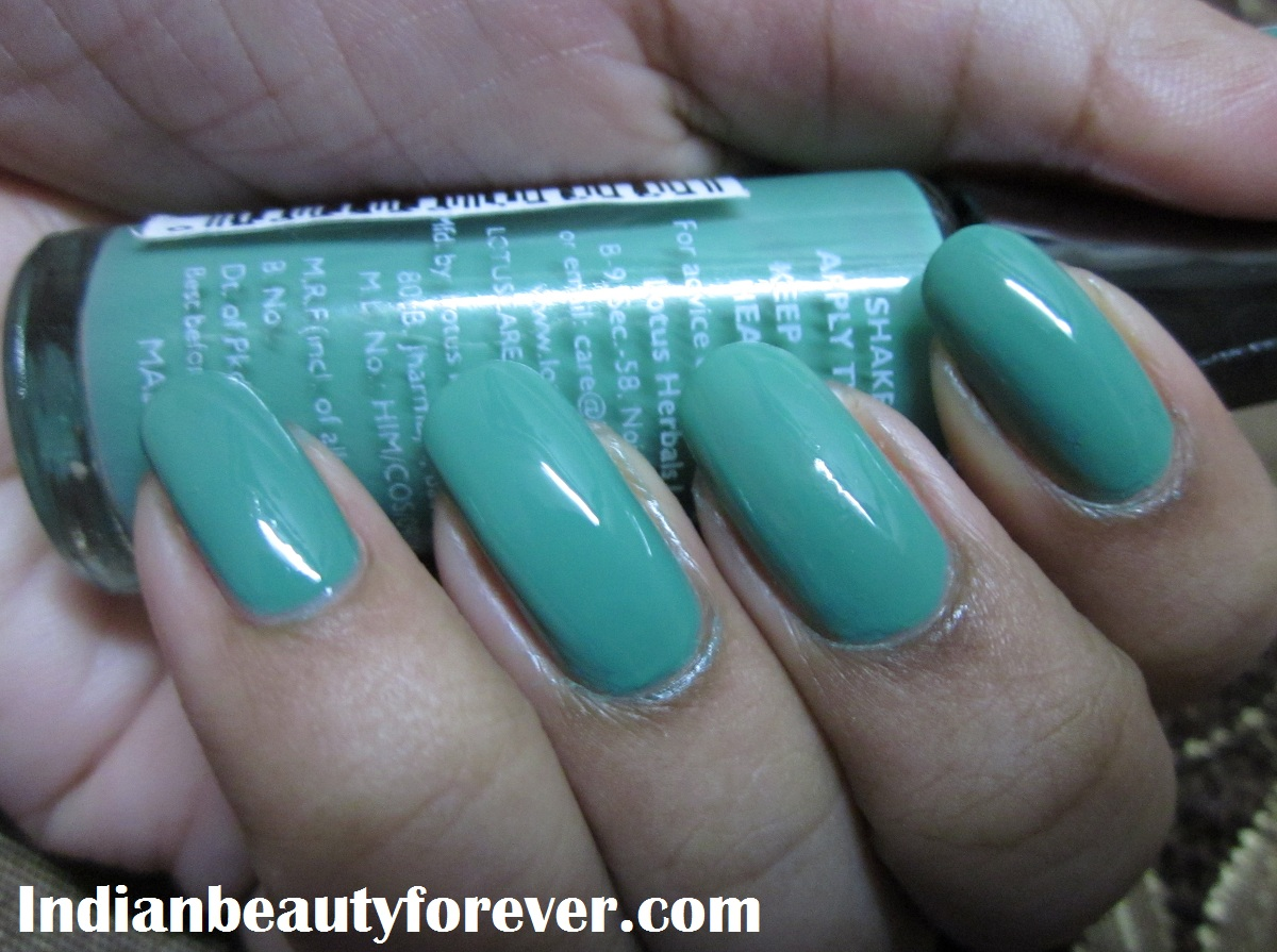 Lotus Herbals nail paint Go grapes, review and swatches