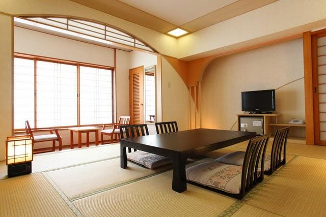 Interior de un hotel japonés estilo washitsu