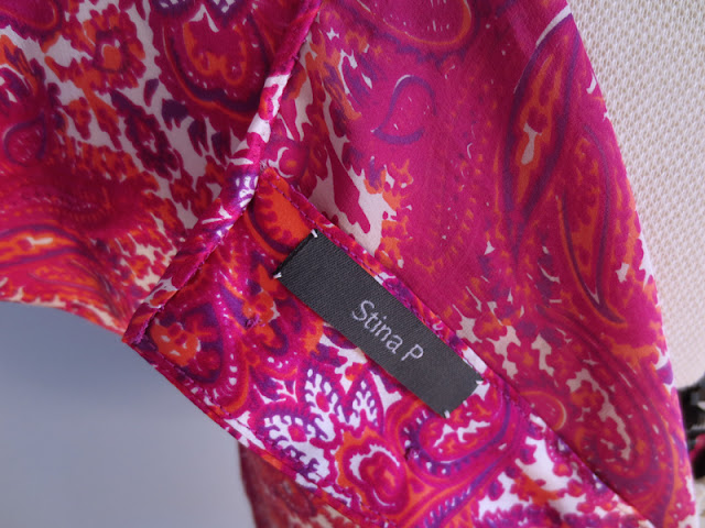 Silk blouse detail