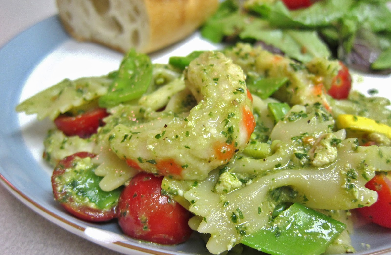 Summer Veggies With Pasta And Shrimp Recipes — Dishmaps