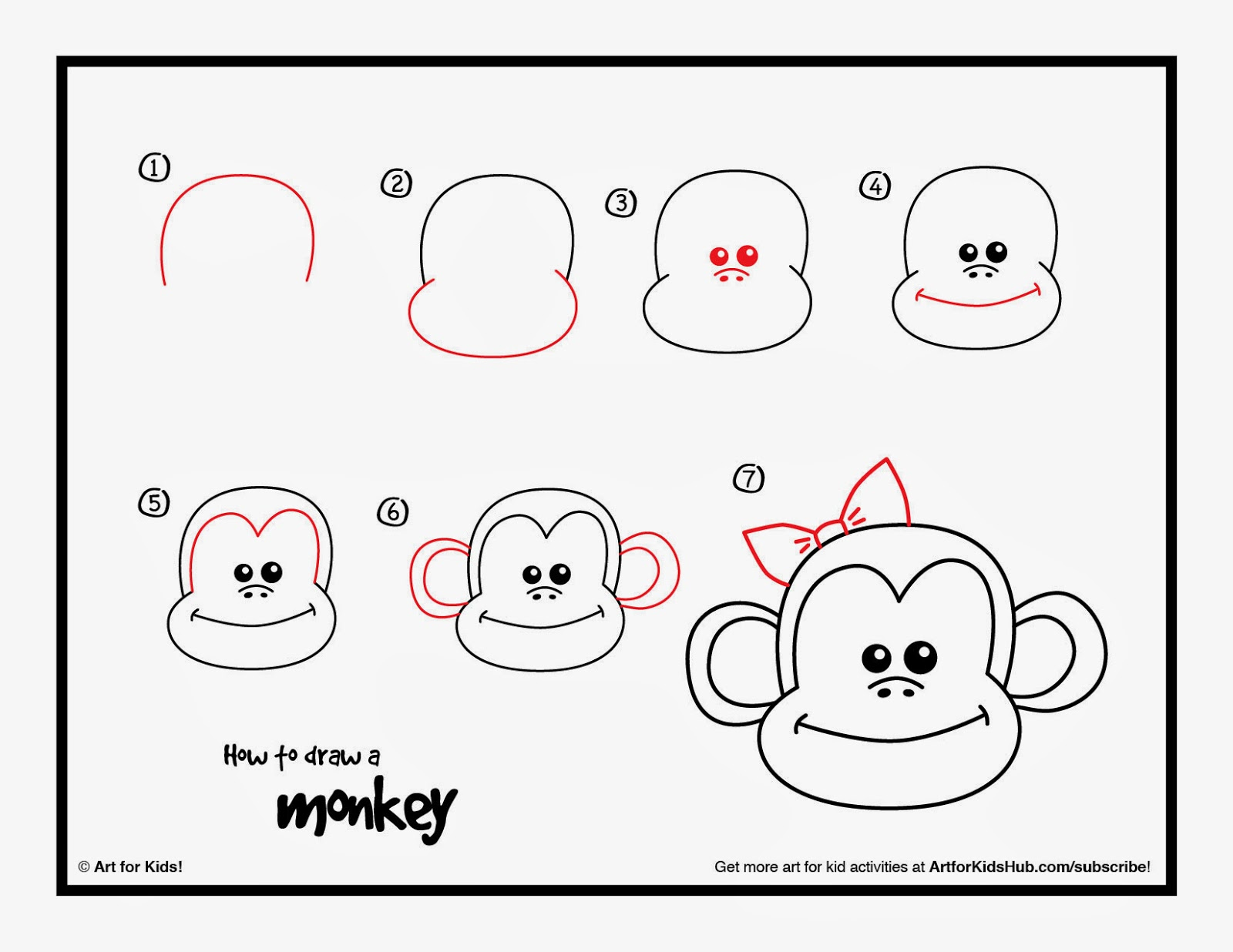 http://artforkidshub.com/how-to-draw-a-monkey/
