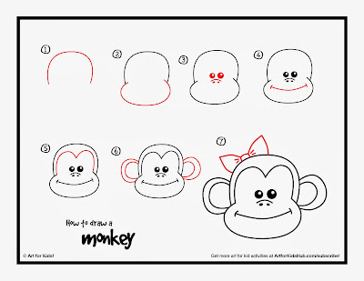Easy Steps How to Draw a Monkey