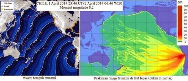 Tsunami dari Chile Tidak Mengancam Indonesia