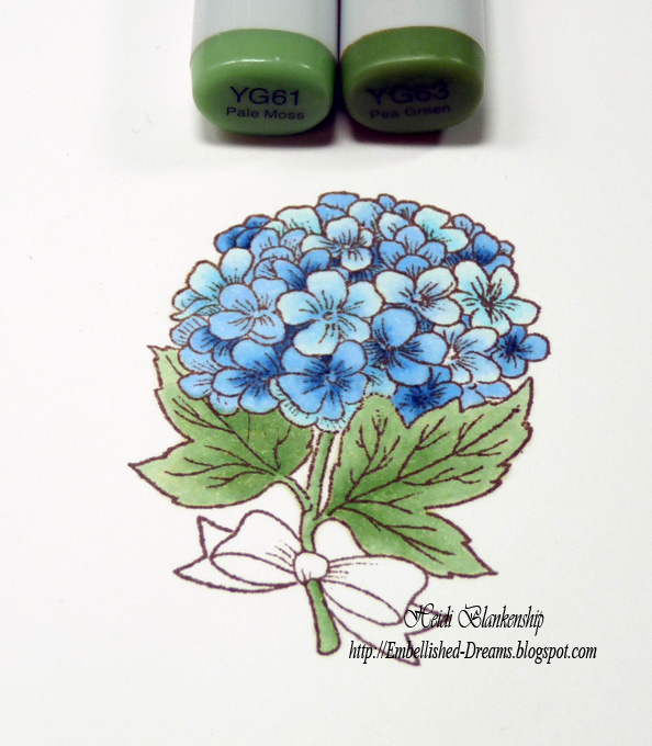 embellished dreams blue hydrangea card bazzill basics paper rh embellished dreams blogspot com Copic Coloring Techniques Copic Coloring Tutorials
