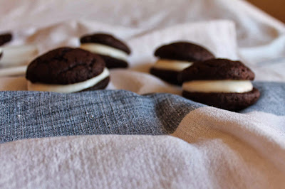 Whoopie pie de chocolate y crema de queso