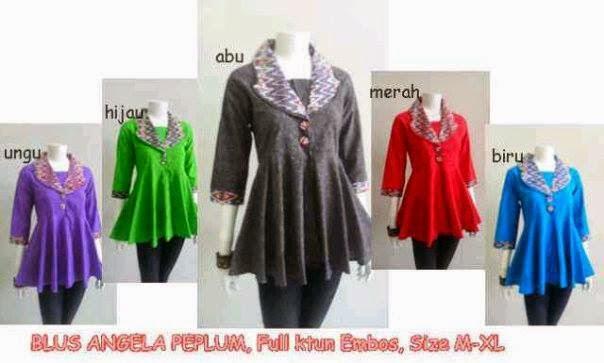 Baju Blus Batik Atasan Wanita Model Terbaru - Baju Batik Modern Dan ...