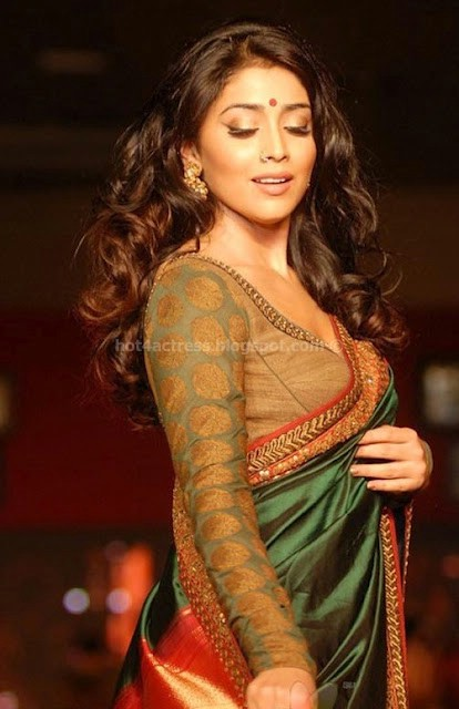 Warmupindia Shriya Saran Hot Cute Half Saree Stills With Navel Show