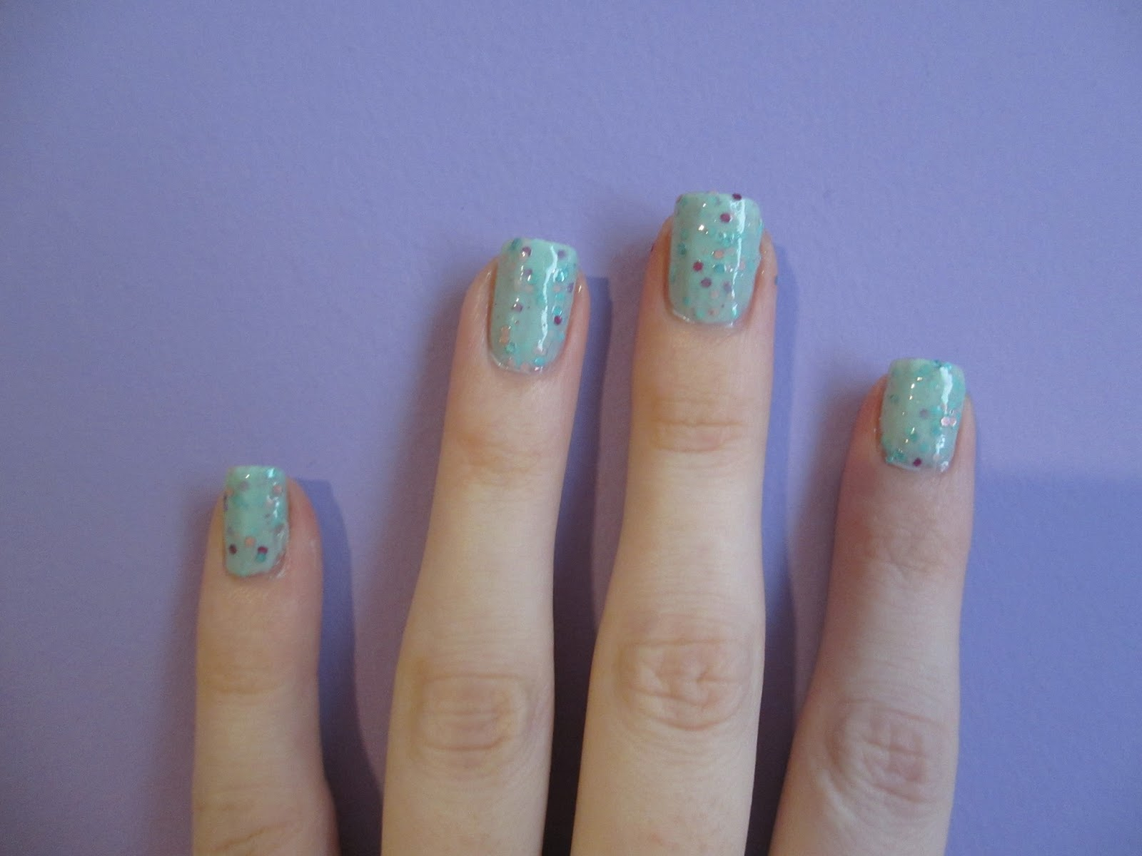 lovely me:ex yogurt nails apple mint
