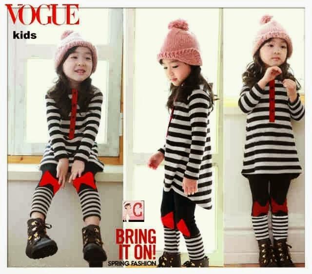 Foto desain model baju anak perempuan model korea umur 6 tagun keatas