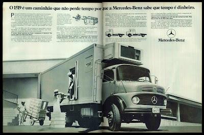 propaganda caminhão Mercedes-Benz 1519 - 1978.  brazilian advertising cars in the 70s; os anos 70; história da década de 70; Brazil in the 70s; propaganda carros anos 70; Oswaldo Hernandez;