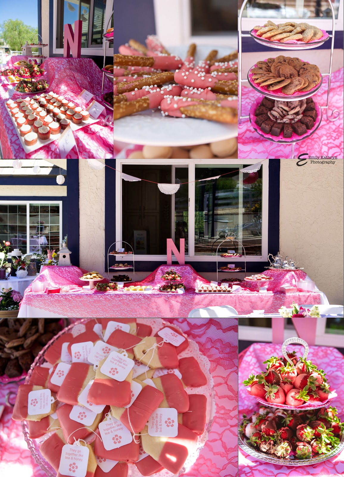 Tea Party Bridal Shower - amazing dessert table from www.thepinkflour.com