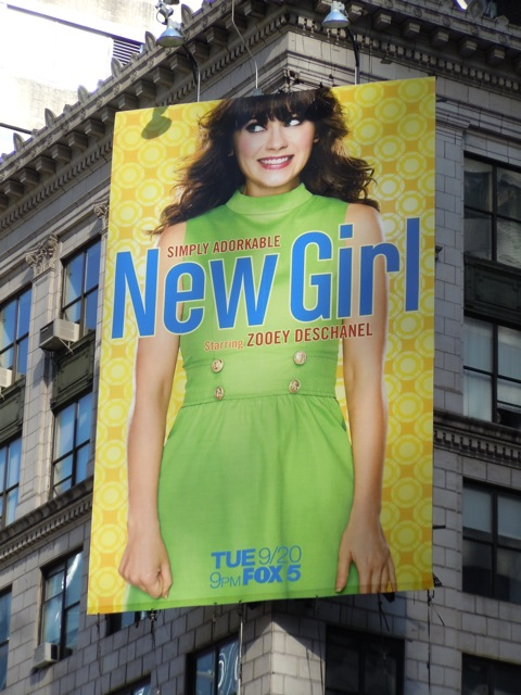 New Girl billboard NYC