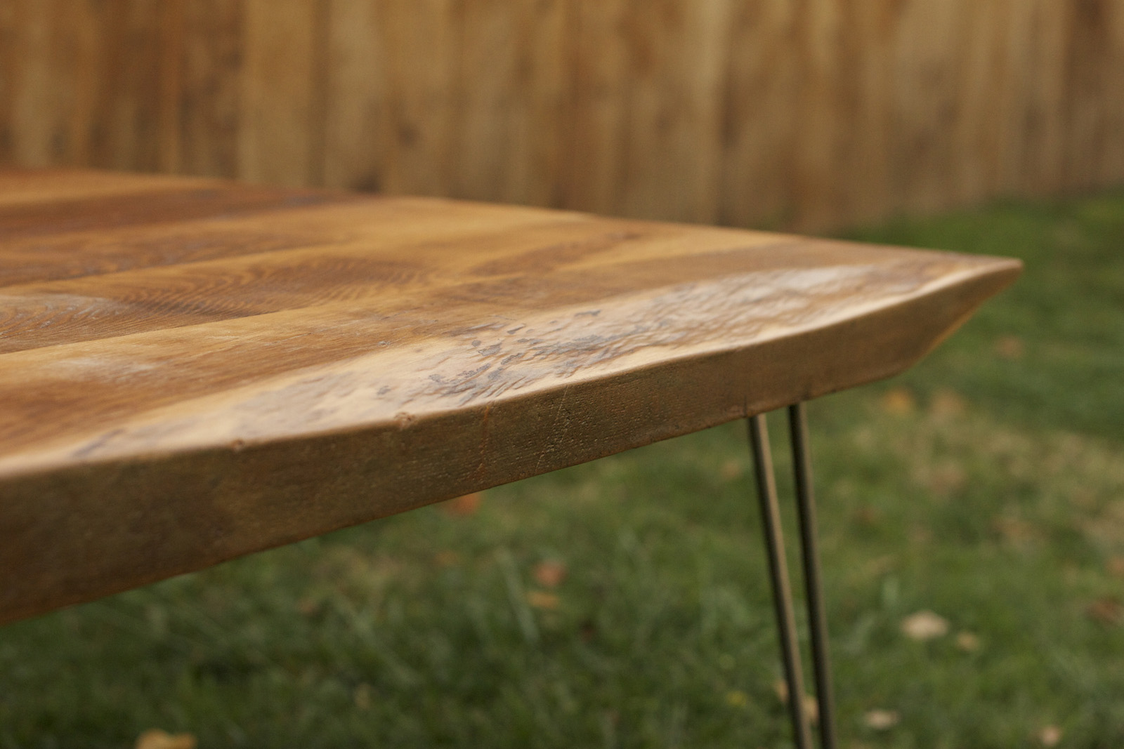 Arbor Exchange Reclaimed Wood Furniture Rustic Coffee Table With Hairpin Legs