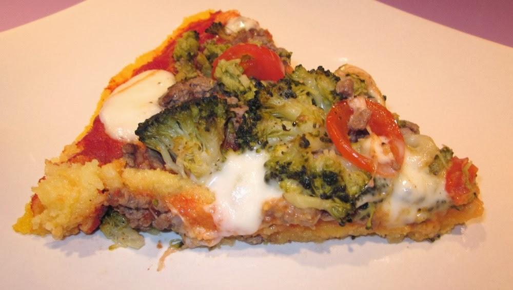 Pizza polenta sans gluten