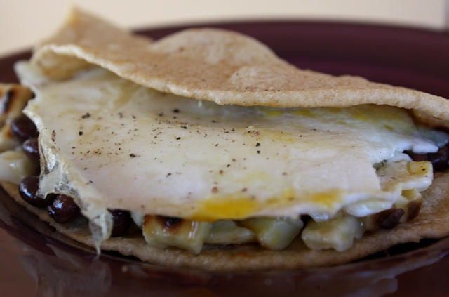 Huevos Rancheros Breakfast Wrap recipe by Barefeet In The Kitchen
