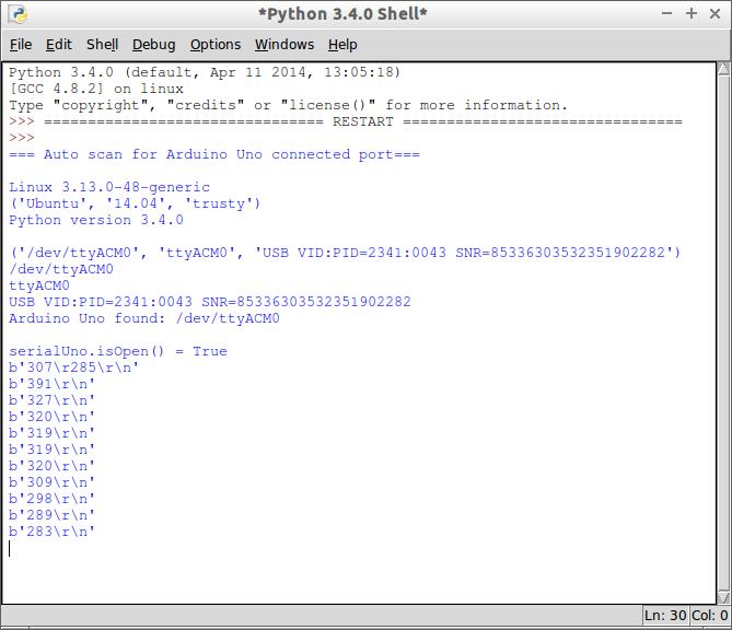 Arduino er python auto detect connected serial port