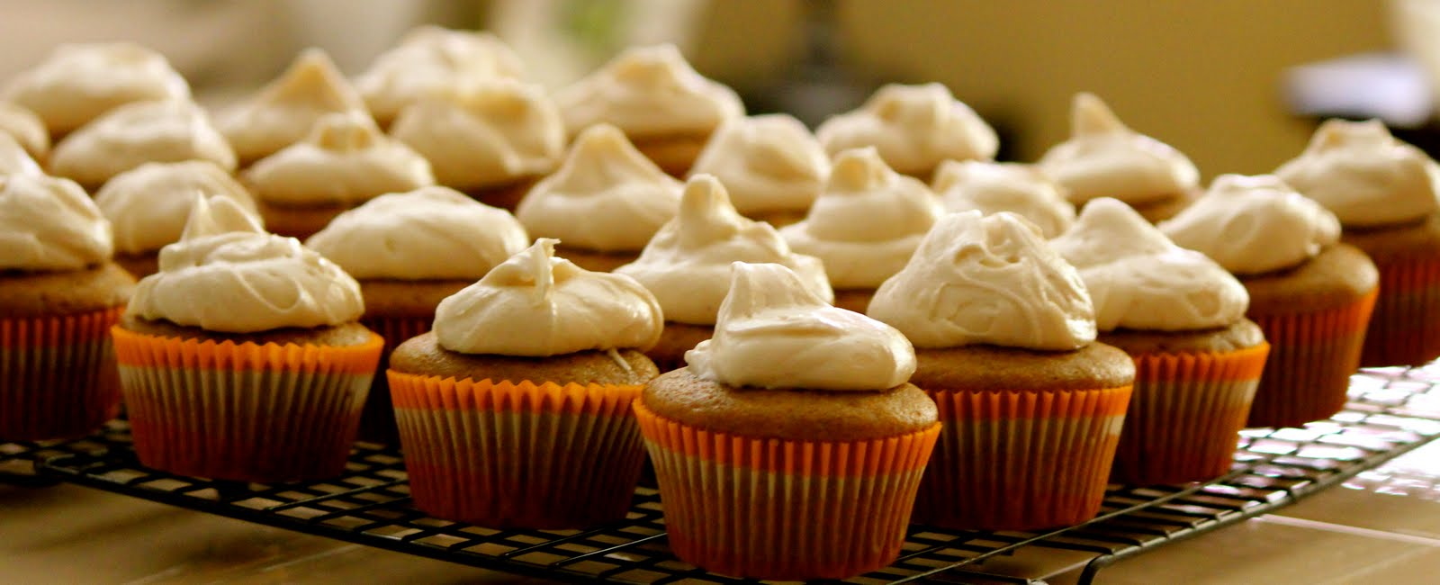Pumpkin Ginger Cupcakes With Ginger Cream Cheese Frosting Recipes ...