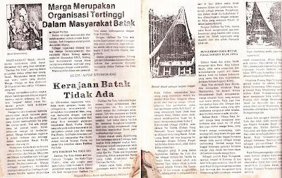 "Sitor Situmorang: ""Marga Merupakan Organisasi Tertinggi Dalam Masyarakat Batak"" dan ""Kerajaan Batak Tidak Ada"" dimuat dalam: Majalah Budaya Batak dan Pariwista, Medan 1986"