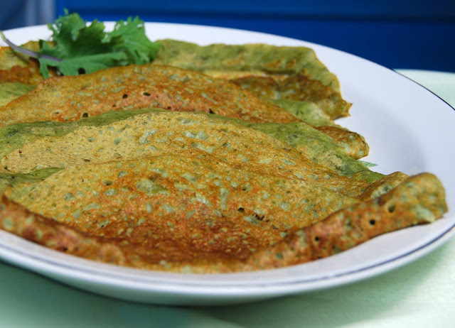 Kale crepes with moong