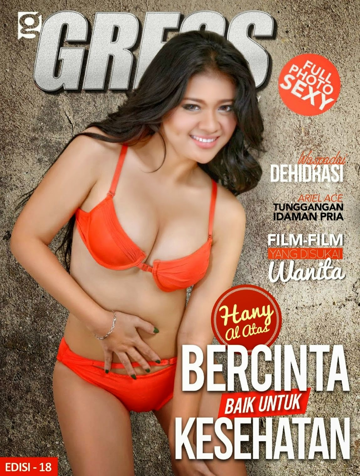 Hot Photo Hany Al Attas di Majalah Gress