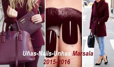 Uñas-Nails-Unhas Marsala 2015-2016