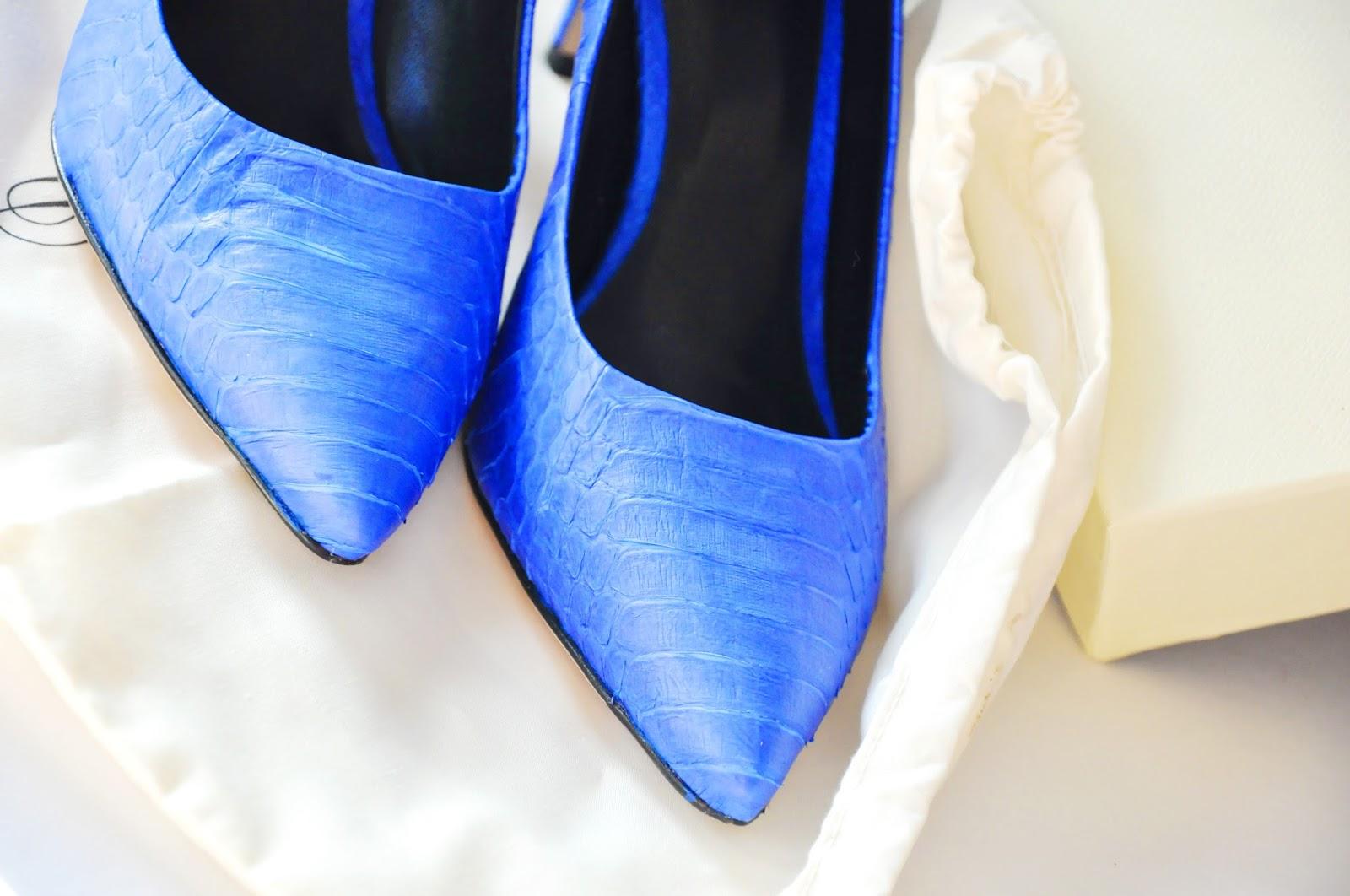 синие лодочки на каблуке