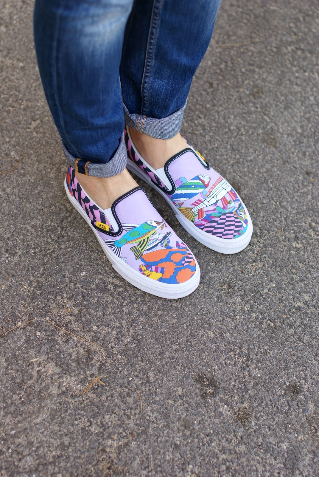 Vans slip-on sneakers, Vans the beatles yellow submarine sneakers, Fashion and Cookies, fashion blogger