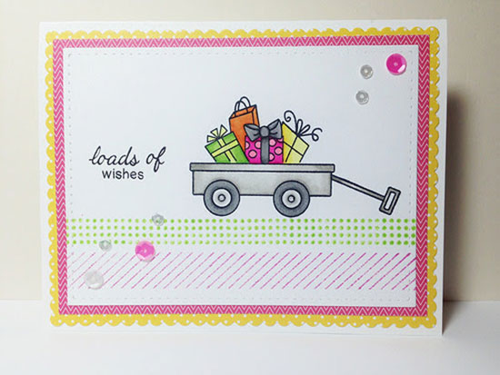 Top Pick for Inky Paws Challenge #11 - Citrus Colors  - Wagon Stamp Set by Newton's Nook designs